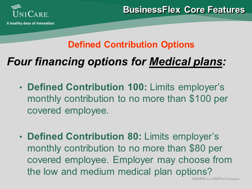 Premium Only Plan (POP) Defined Contribution MemberFlex