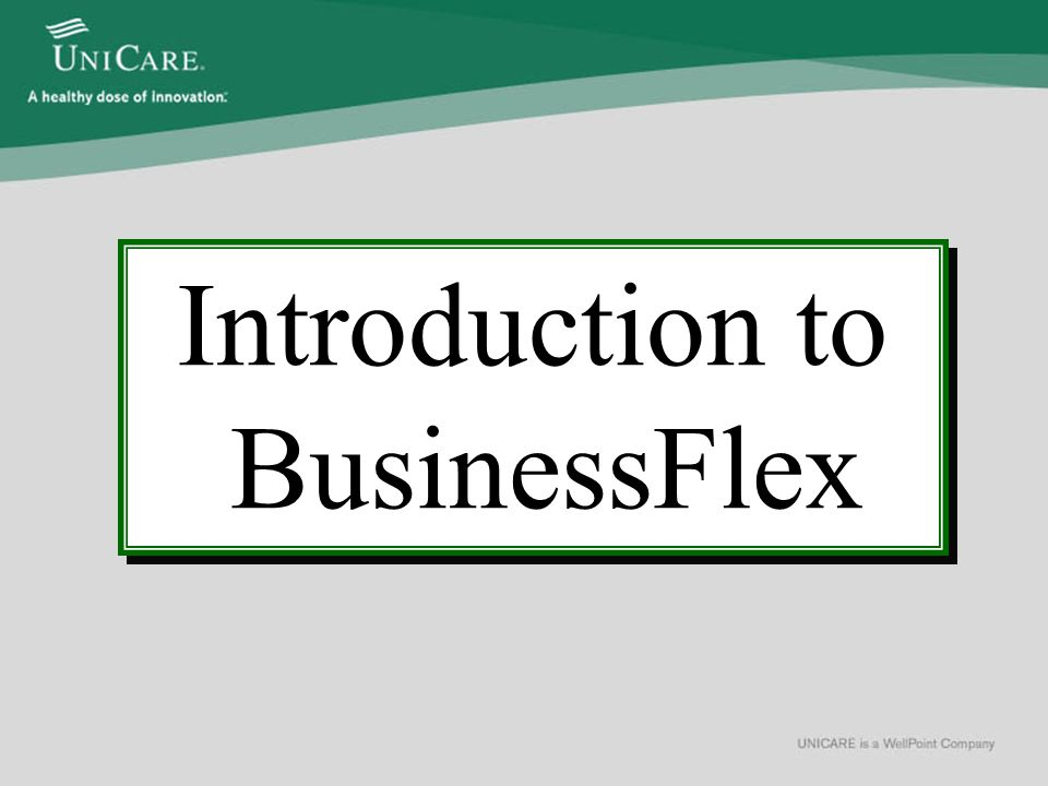 BusinessFlex Core Features Premium Only Plan (POP) Defined Contribution MemberFlex