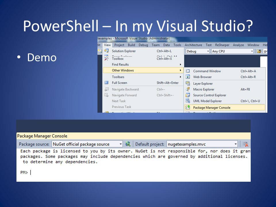 PowerShell – In my Visual Studio Demo