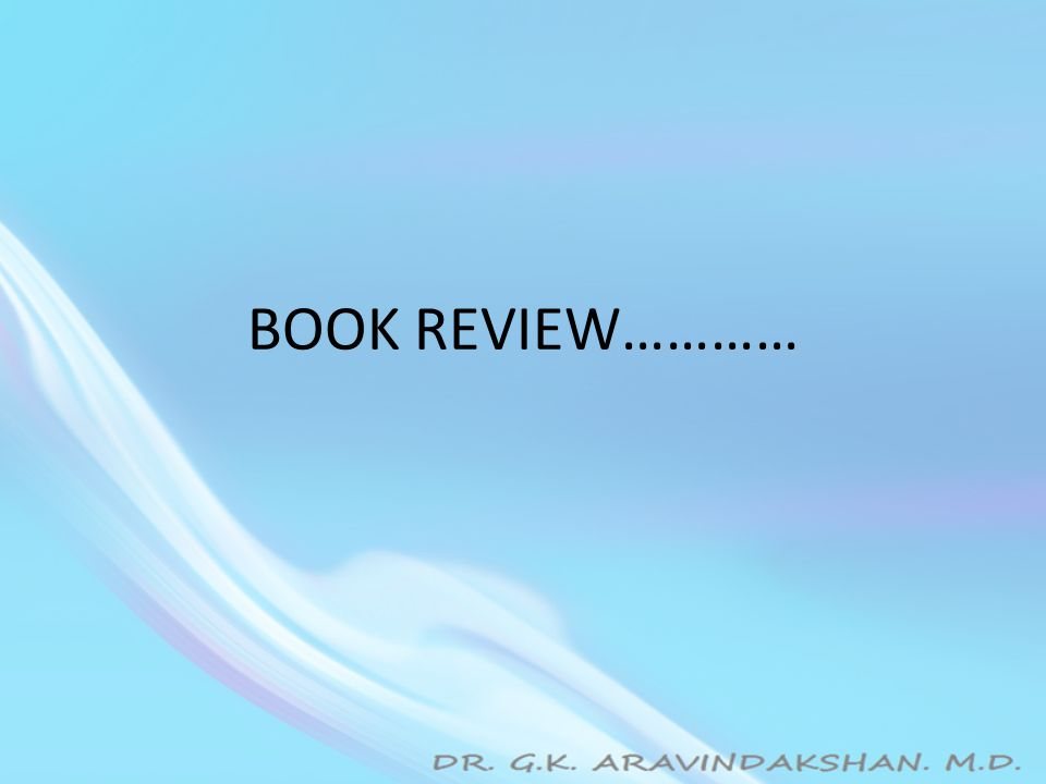 BOOK REVIEW…………