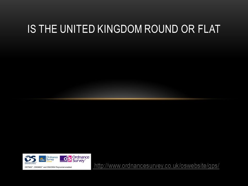 IS THE UNITED KINGDOM ROUND OR FLAT