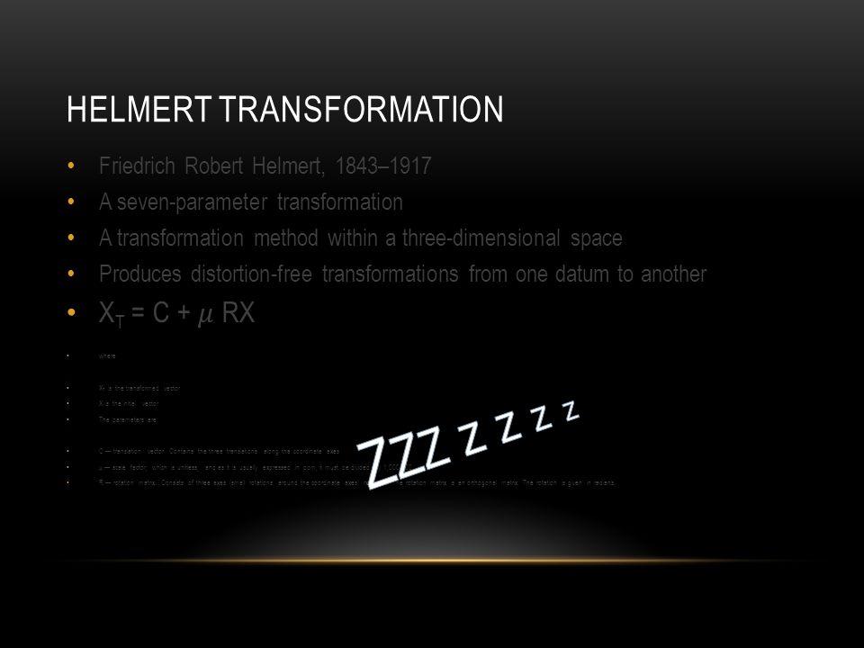 HELMERT TRANSFORMATION
