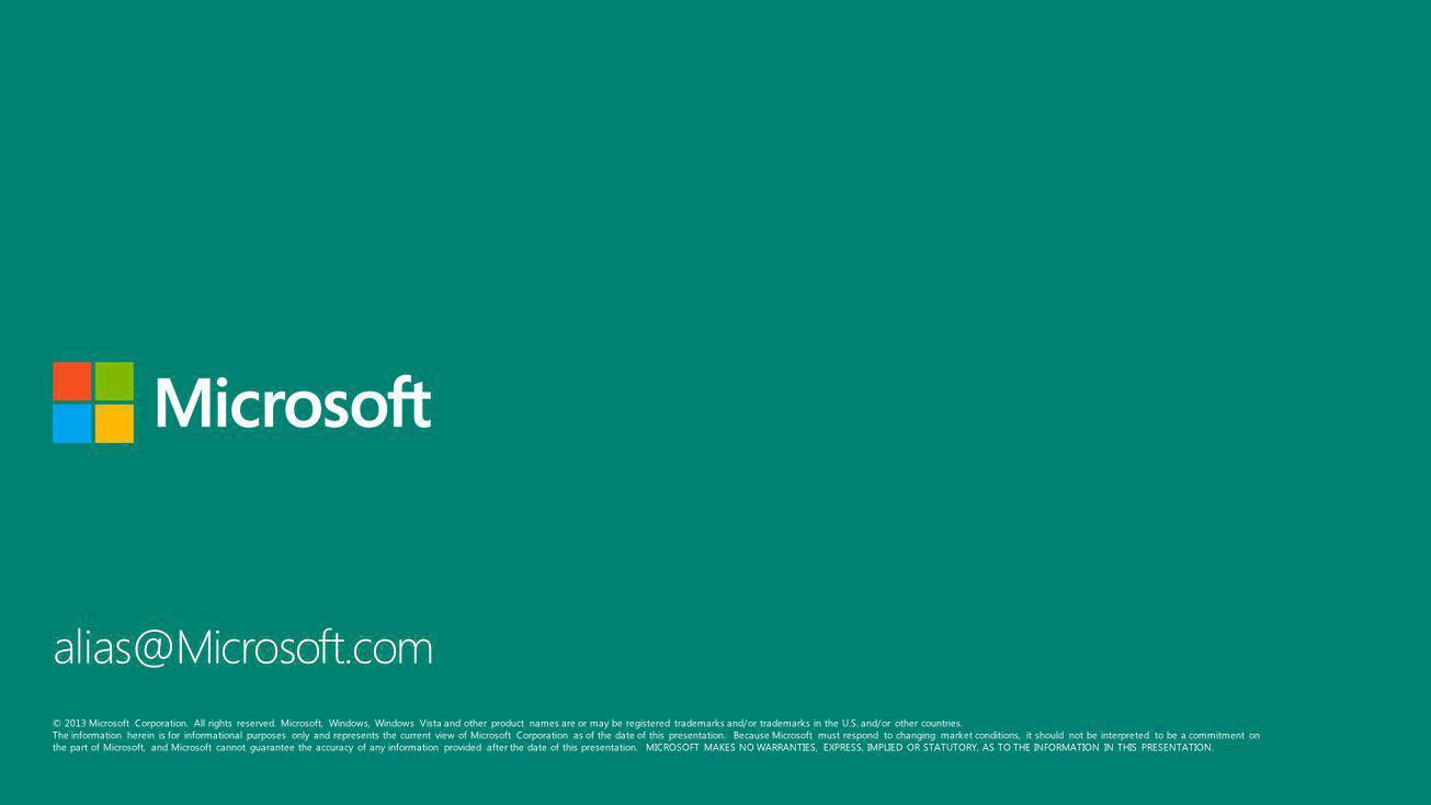 alias@Microsoft.com