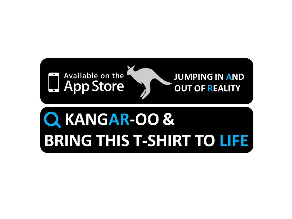 JUMPING IN AND OUT OF REALITY KANGAR-OO & BRING THIS T-SHIRT TO LIFE