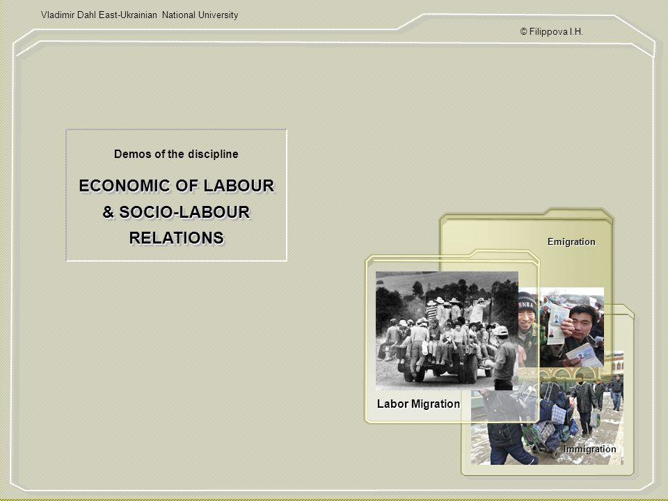 ECONOMIC OF LABOUR & SOCIO-LABOUR RELATIONS © Filippova I.H.