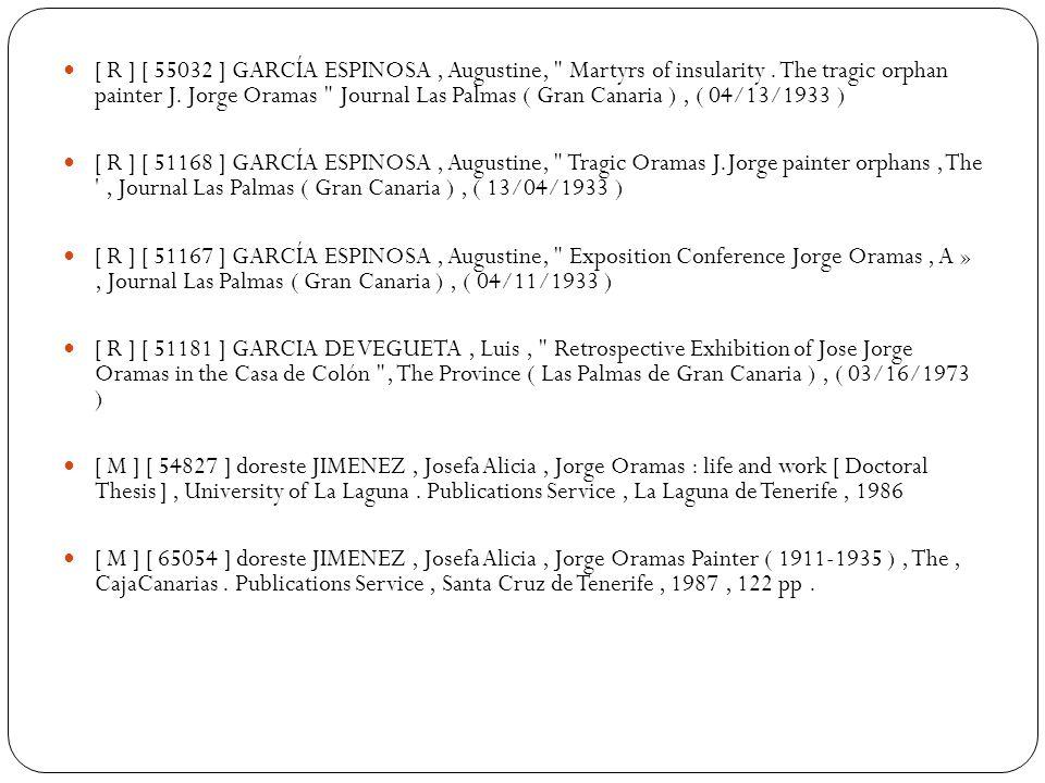 [ R ] [ 55032 ] GARCÍA ESPINOSA, Augustine, Martyrs of insularity.