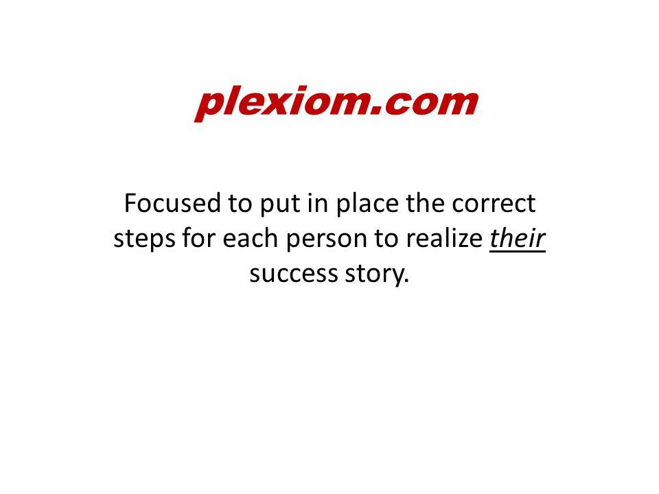 plexiom.com There are 3 necessary elements to make plexiom.com work…