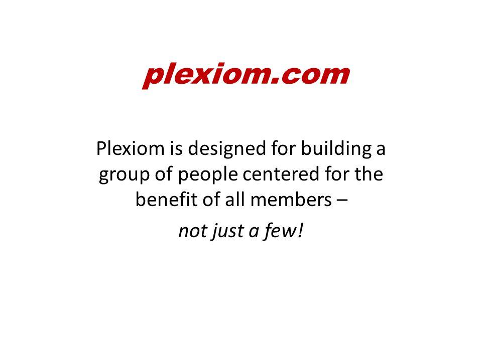 We'll be focused on 3 main aspects – plexiom.com
