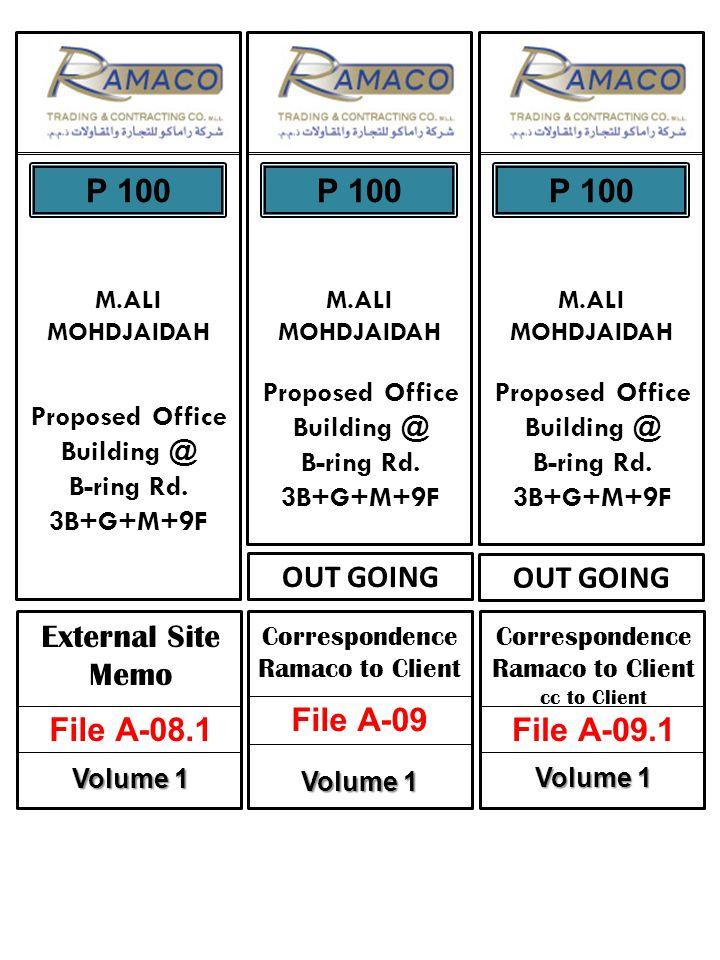 External Site Memo File A-08.1 Volume 1 M.ALI MOHDJAIDAH Proposed Office Building @ B-ring Rd.