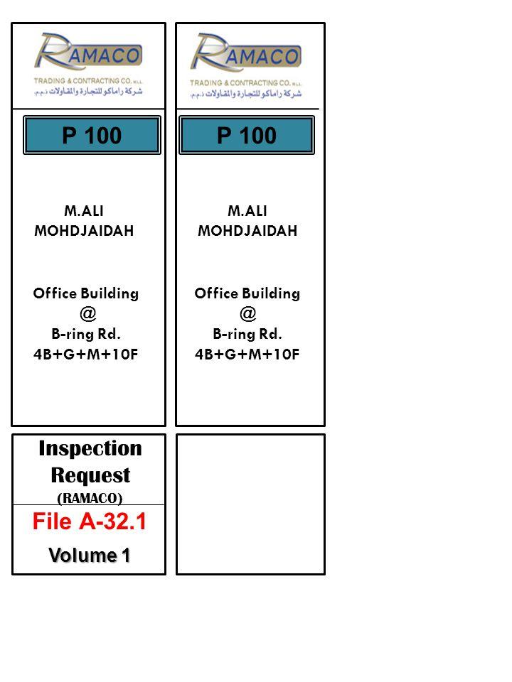 M.ALI MOHDJAIDAH P 100 M.ALI MOHDJAIDAH Office Building @ B-ring Rd.