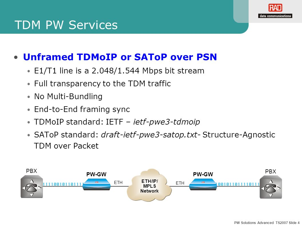 PW Solutions Advanced TS2007 Slide 15 ETH Scheduling TX Queue Assignment User traffic priority should be also prioritized internally by the PW GW when transmitted to the PSN The internal prioritization will be done using ETH Tx queues with different priority levels The user should decide which service will get the highest priority within the PW-GW.
