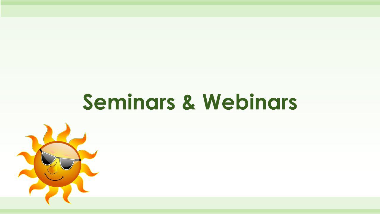 Seminars & Webinars