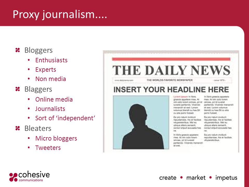 Proxy journalism....