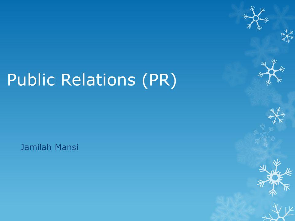 Public Relations (PR) Jamilah Mansi