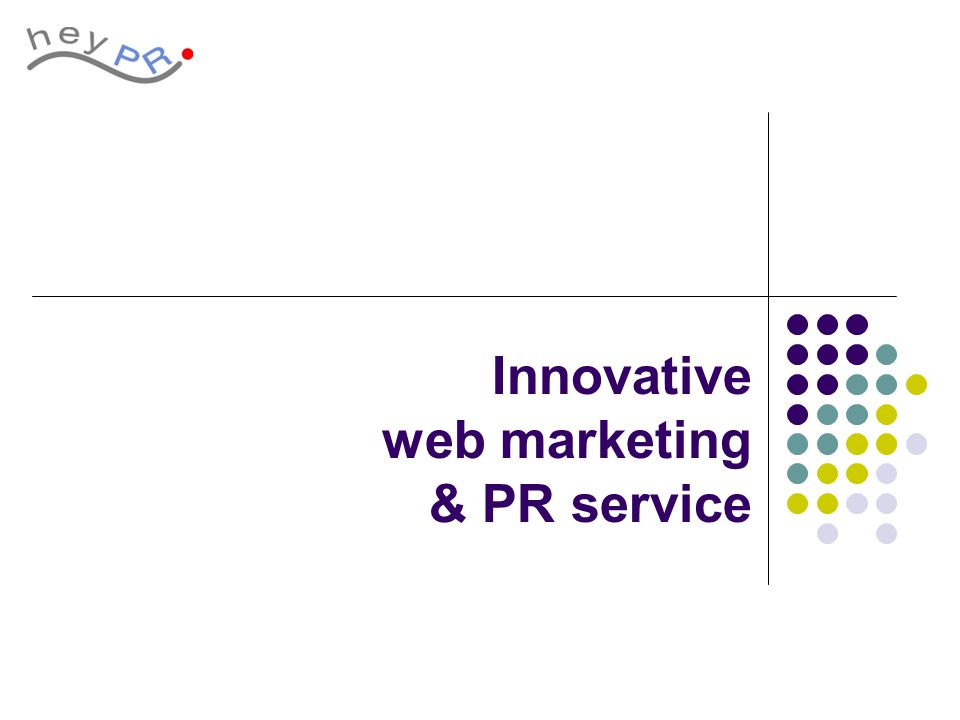 Innovative web marketing & PR service