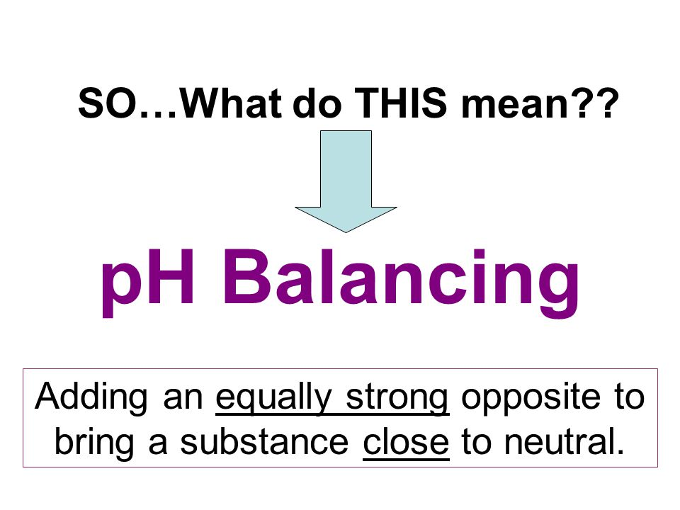 pH Balancing SO…What do THIS mean?.