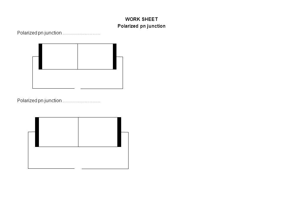 WORK SHEET Polarized pn junction Polarized pn junction..............................