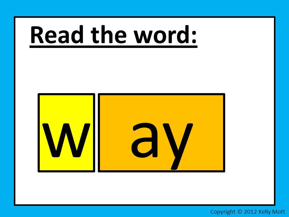 Read the word: Copyright © 2012 Kelly Mott way