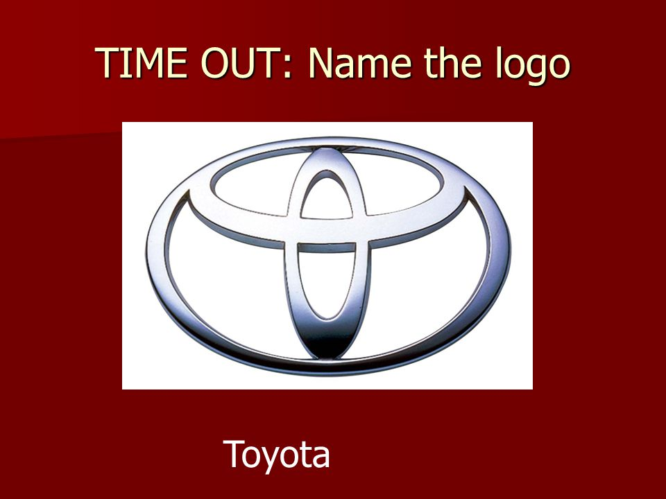 TIME OUT: Name the logo Toyota