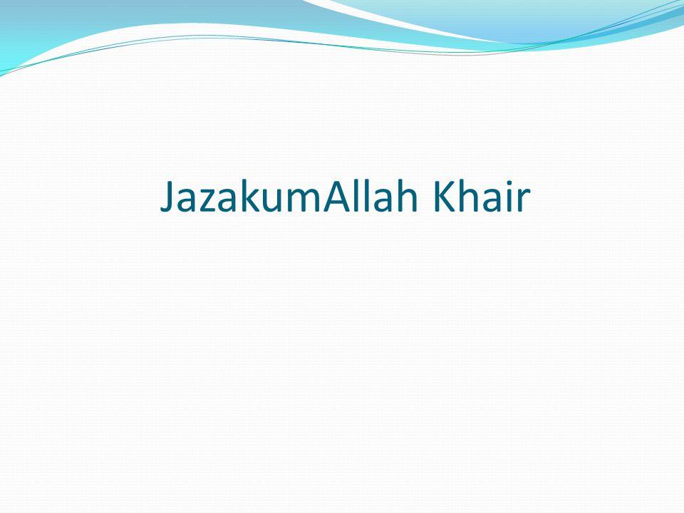 JazakumAllah Khair