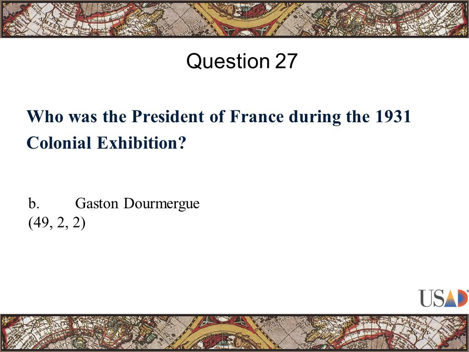 Who was the President of France during the 1931 Colonial Exhibition.