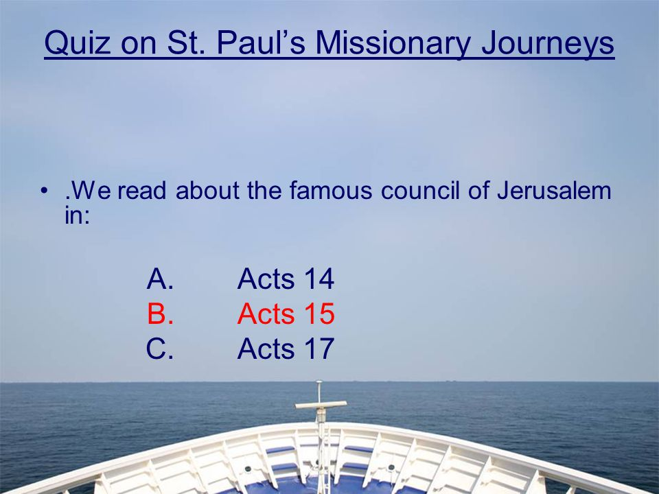 Quiz on St.