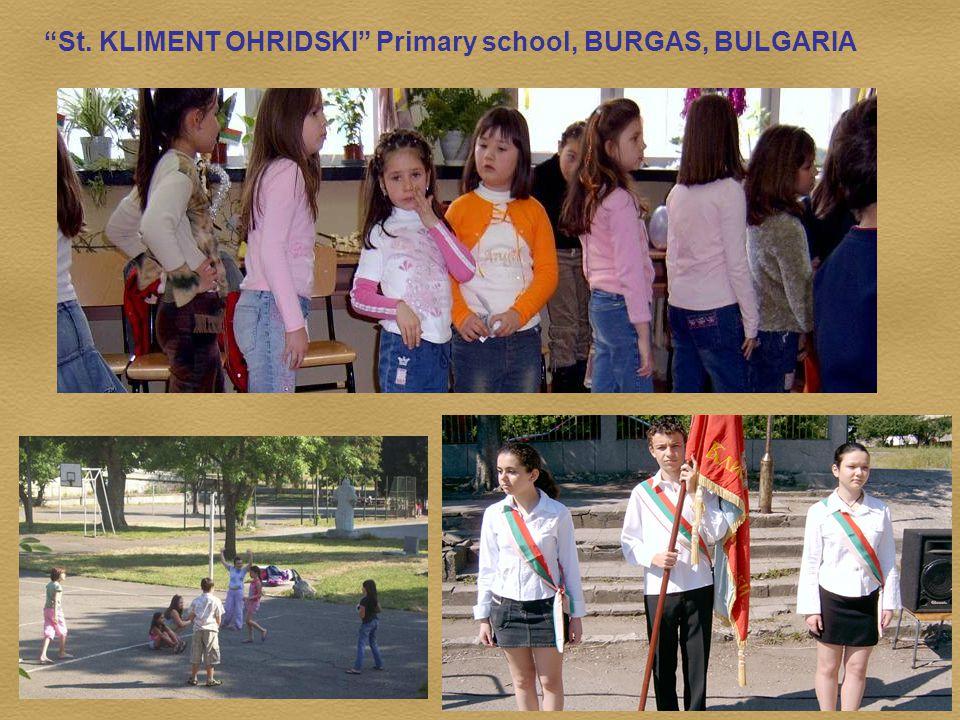 St. KLIMENT OHRIDSKI Primary school, BURGAS, BULGARIA
