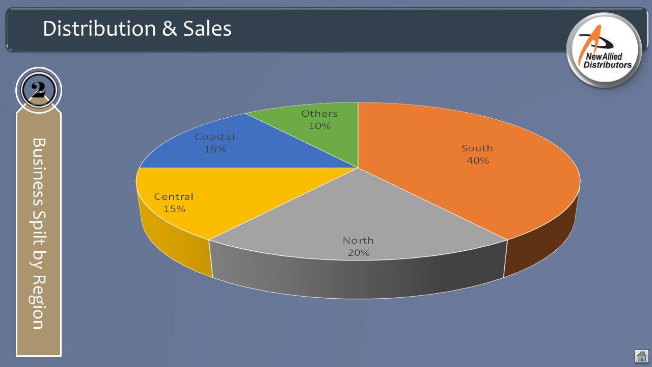 Distribution & Sales Business Spilt by Region
