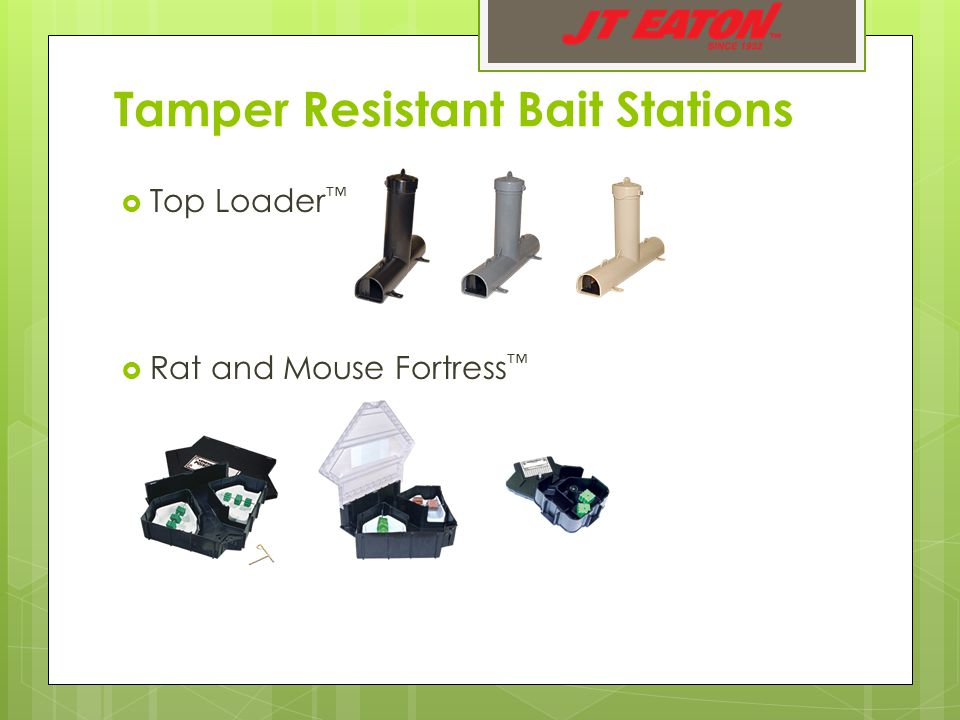 Tamper Resistant Bait Stations  Top Loader ™  Rat and Mouse Fortress ™