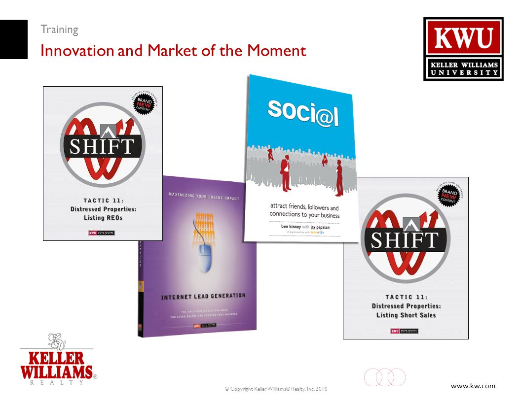 www.kw.com © Copyright Keller Williams® Realty, Inc. 2010 Training Innovation and Market of the Moment