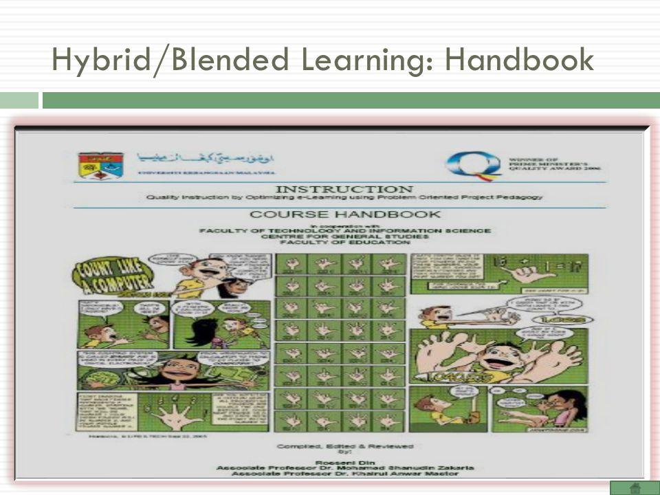 Hybrid/Blended Learning: Handbook