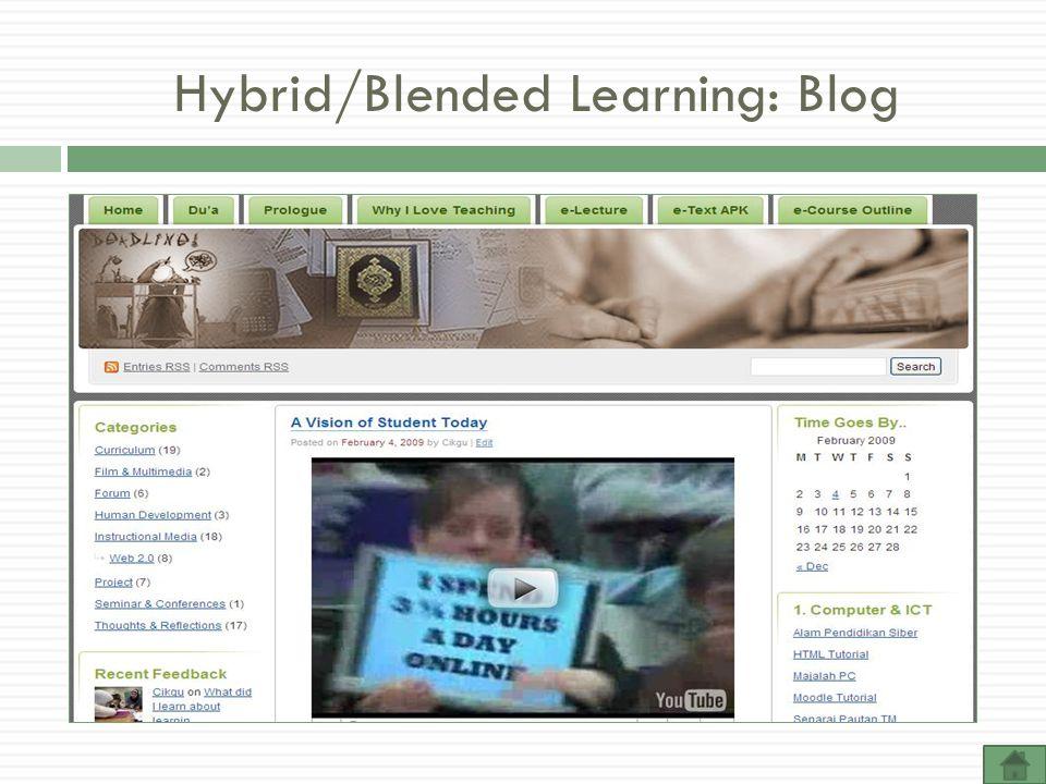 Hybrid/Blended Learning: Blog
