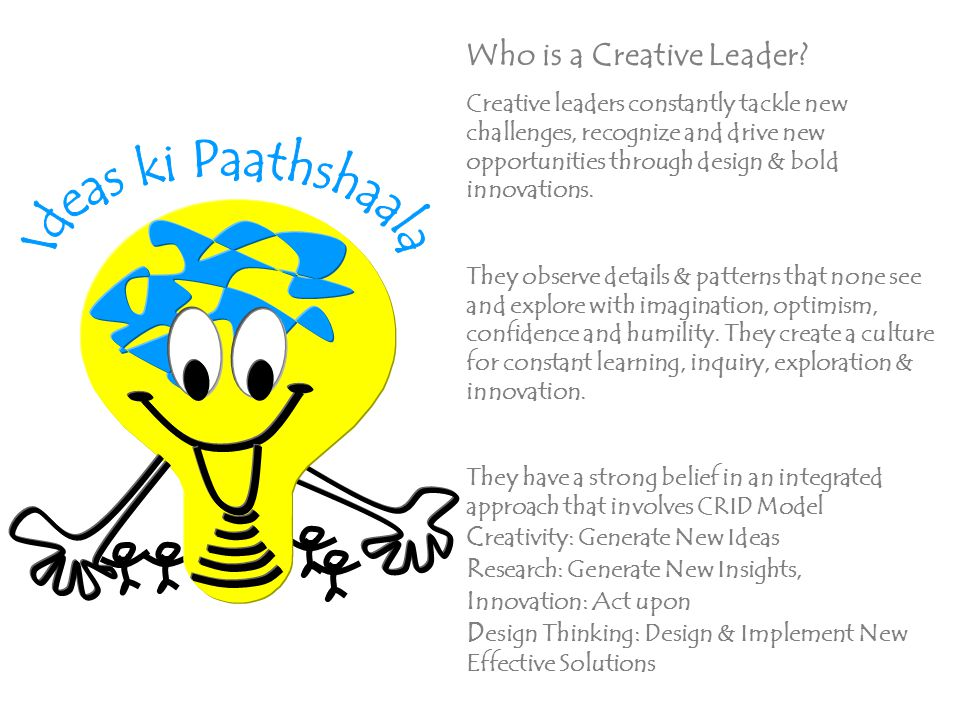 Who is a Creative Leader.