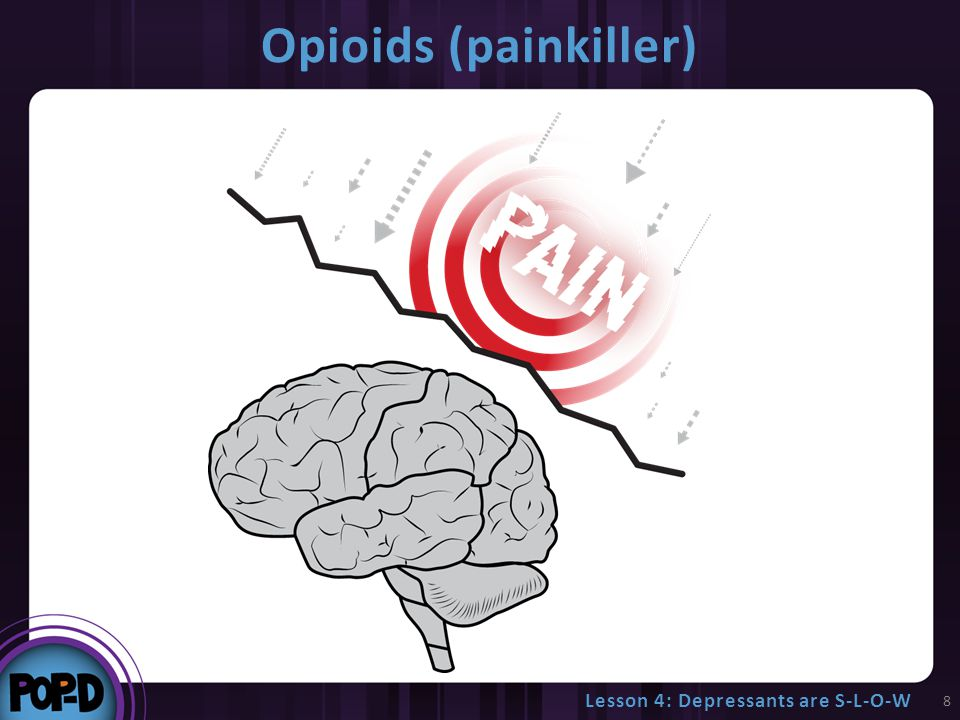 Opioids (painkiller) 8 Lesson 4: Depressants are S-L-O-W