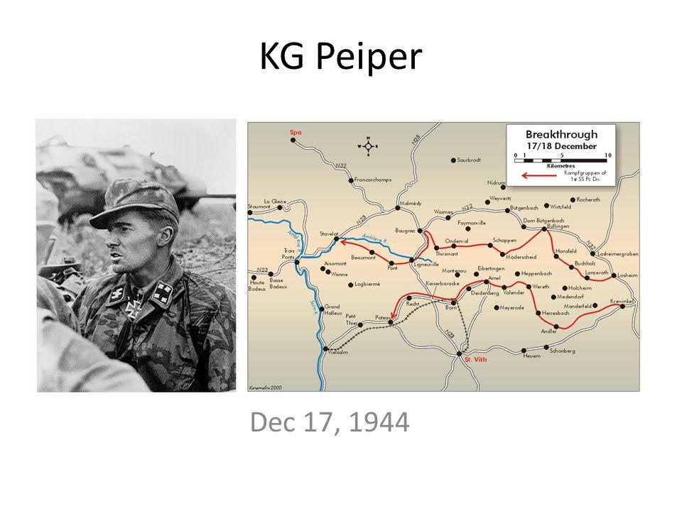 KG Peiper Dec 17, 1944