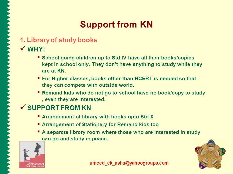 umeed_ek_asha@yahoogroups.com Support from KN 1.