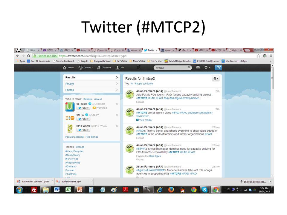 Twitter (#MTCP2)