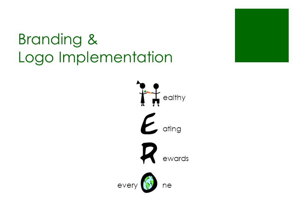 Branding & Logo Implementation ealthy ating ewards everyne