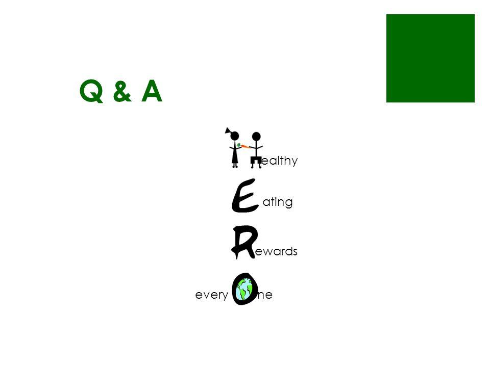Q & A ealthy ating ewards everyne