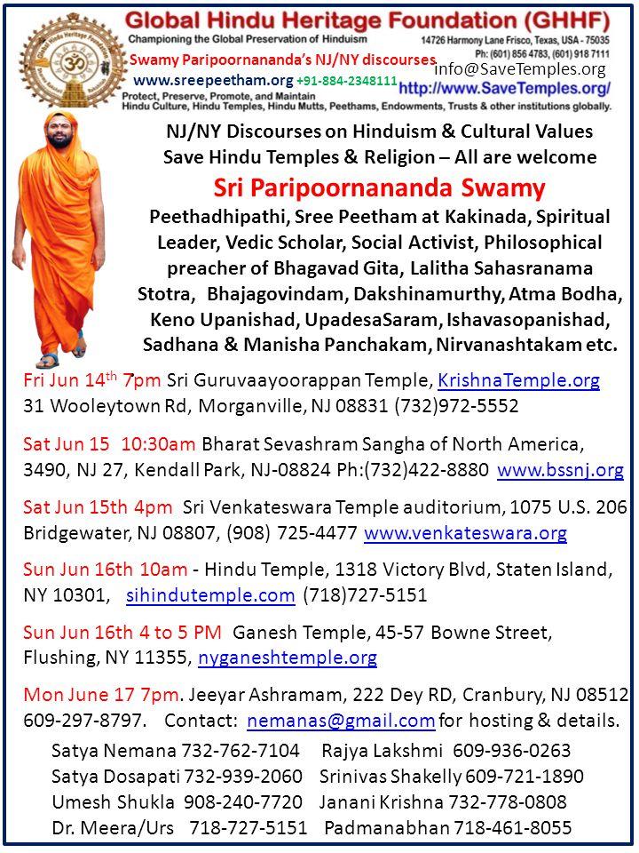 Pujyasri Swamiji established Sreepeetham as the hub of all spiritual and service activities.