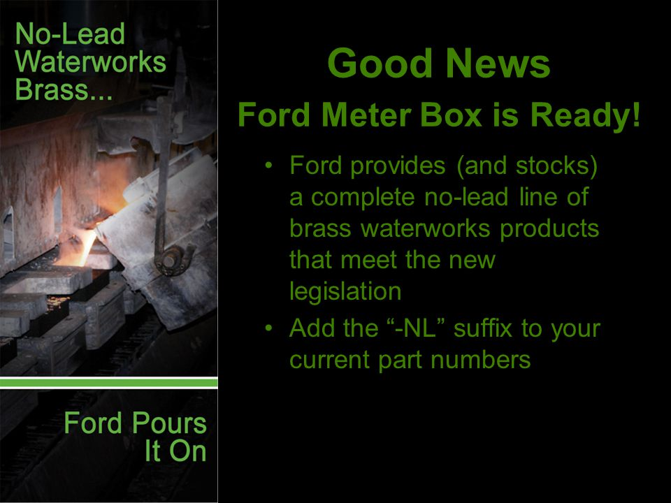 Good News Ford Meter Box is Ready.