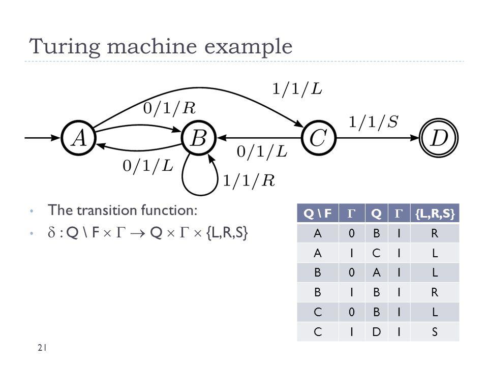 Turing machine example 22  On board -->