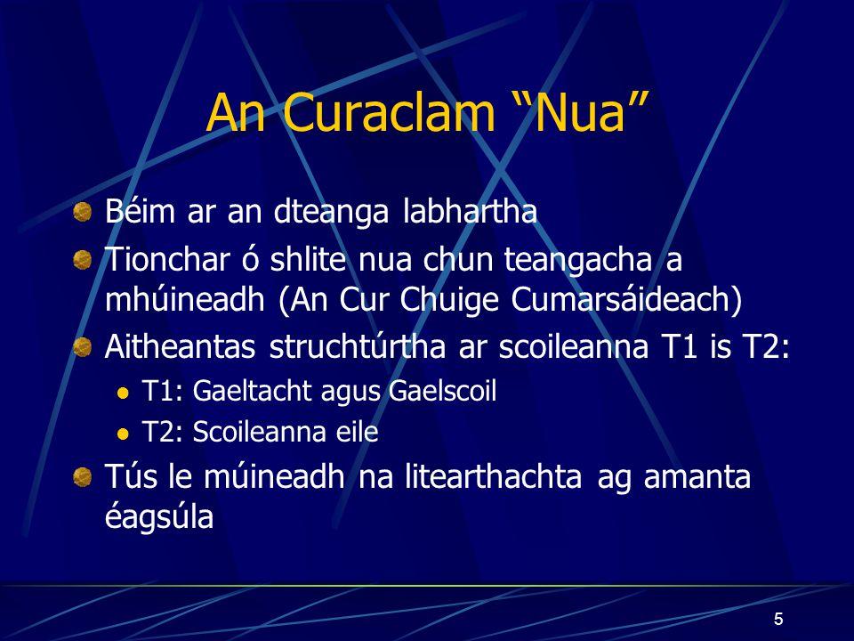 4 An Tríú Slí Chuige Mar theanga Mar chultúr Ar nós an Bhéarla