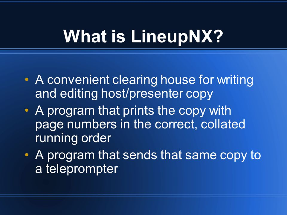 What is LineupNX.
