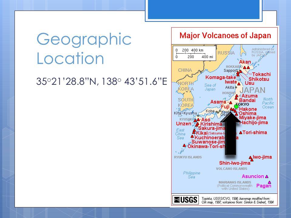 Geographic Location 35 o 21'28.8 N, 138 o 43'51.6 E
