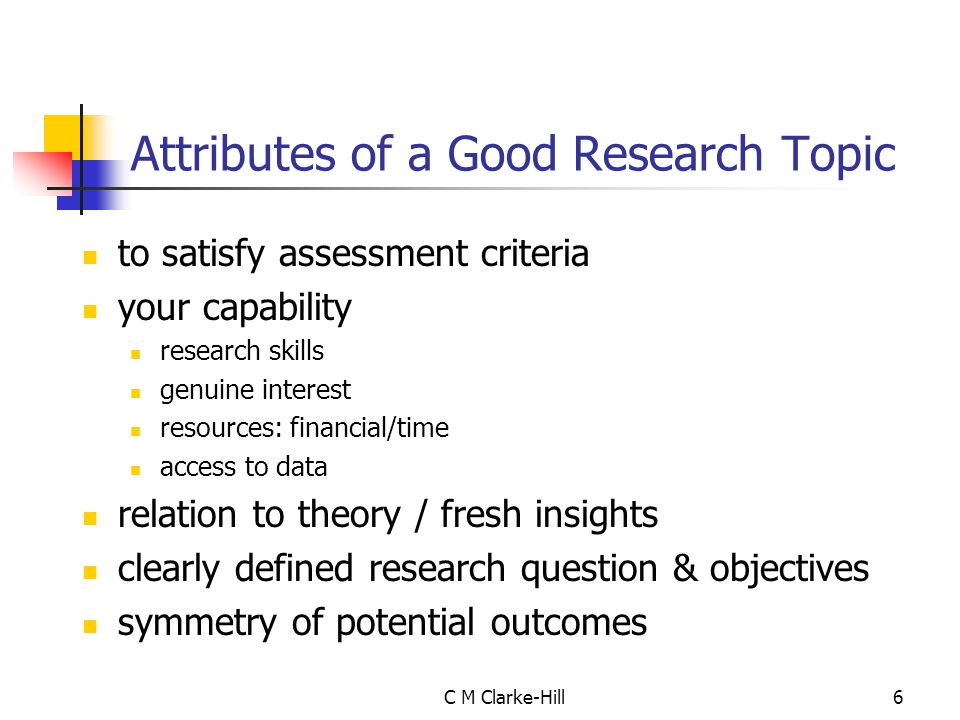 7 Does the topic fit criteria for examining institution.