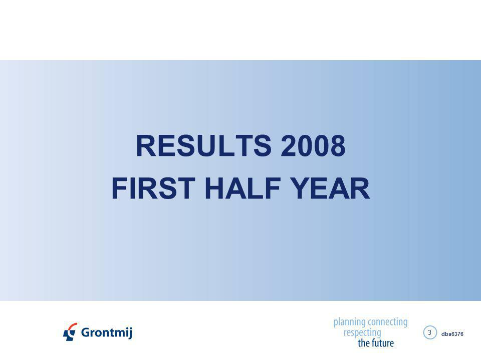 dbs6376 3 RESULTS 2008 FIRST HALF YEAR