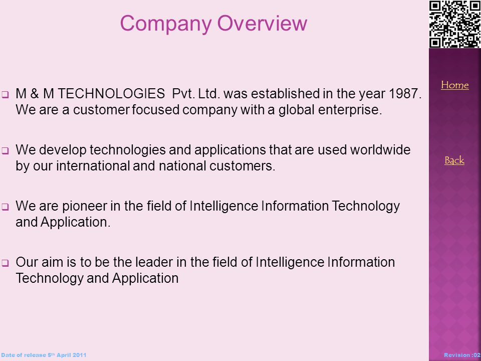  M & M TECHNOLOGIES Pvt. Ltd. was established in the year