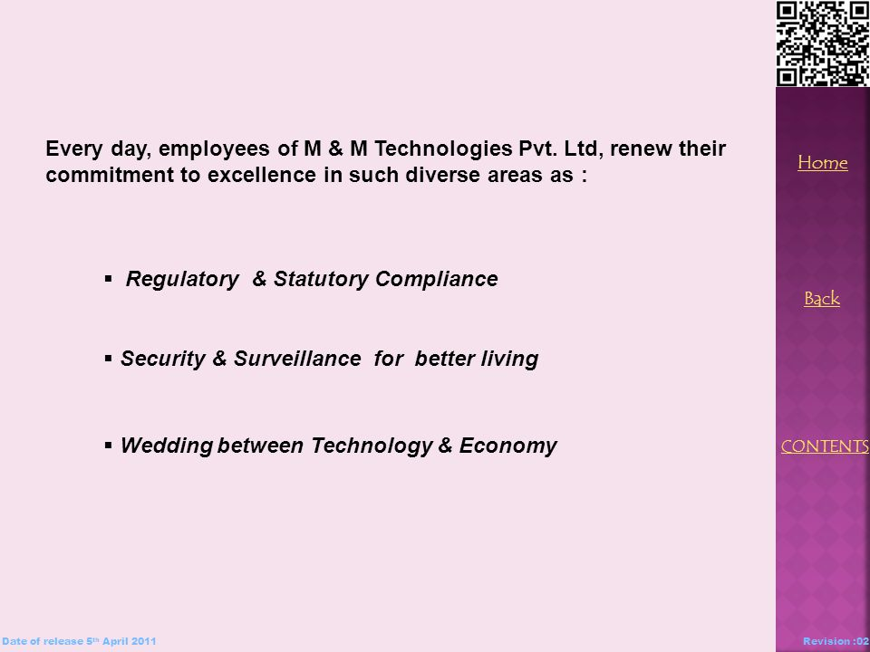 Every day, employees of M & M Technologies Pvt.