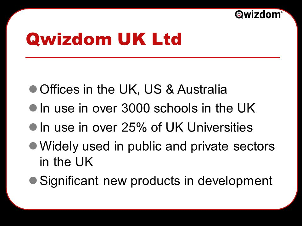 How it works… Qwizdom combines handheld remotes and innovative software.